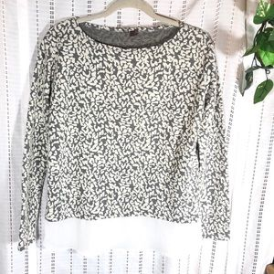 KUT From the Kloth Animal Print Sweater Blouse M